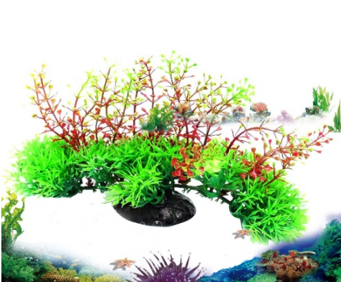 Grass red seaweed landscape artificial aquarium plant for Artificial seaweed decoration
